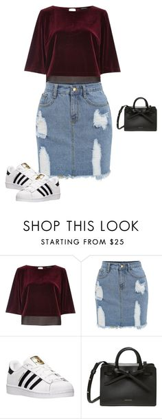 """""""Untitled #1976"""" by quaybrooks ❤ liked on Polyvore featuring River Island and adidas"""