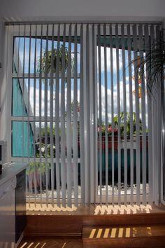 Lamellenvorhang für die Balkontür
