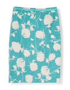 Modern Pencil Skirt in 'blue peony'