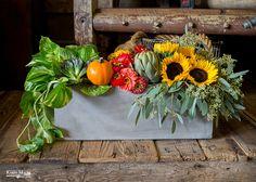 Garden Box of Fall Flowers