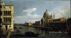 Giovanni Antonio Canal (called Canaletto),View Of The Grand Canal, Santa Maria Della Salute, Venice oil painting reproductions for sale
