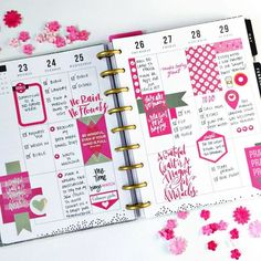 All pink HP- love seeing these layouts when I literally have every sticker pack to create the fun layouts!