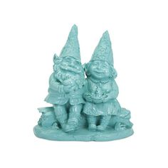 IMAX Home 53200 Juliette Gnome couple Home Decor Statues & ($41) ❤ liked on Polyvore featuring home, home decor, accents, statues & figurines, aqua home decor, resin figurines e resin statues