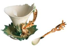 Belinda Jane's - Franz Porcelain Safari Jungle Beauties Giraffe Cup, Spoon