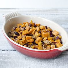 Roasted Sweet Potatoes with Cranberries and Pecans | eHow Food | eHow