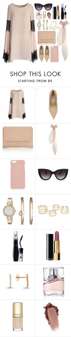 """"""":: Bell-Sleeve Dresses ::"""" by andreearucsandraedu ❤ liked on Polyvore featuring Chicwish, Jimmy Choo, Narciso Rodriguez, Emilia Wickstead, The Case Factory, MANGO, Anne Klein, Lancôme, Chanel and Amorium"""