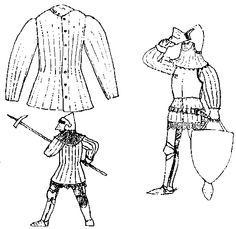 Gambeson ans pieces of plate. http://www.insulaedraconis.org/documents/flamewar/8_2.gif