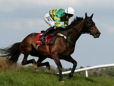 Be Positive and Nina Carberry are ready winners of the Hunt Club Steeplechase at Punchestown.