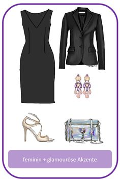 Stil-Mix-Outfit: Feminin-elegantes Outfit mit glamourösen Akzenten
