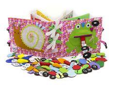 Quiet Book, livre chargée, respectueux de l'environnement, Jouets bébé, éducatifs, jouets-12 pages (1 à 4 ans) - MiniMom - motricité fine Cet ouvrage calme le meilleur cadeau d'anniversaire pour enfants en bas âge. Ce jouet est parfait pour la maison et voyage, en voiture longues balades,