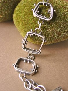 Sterling Silver Square Link Bracelet by ReaganHayhurst on Etsy, $165.00