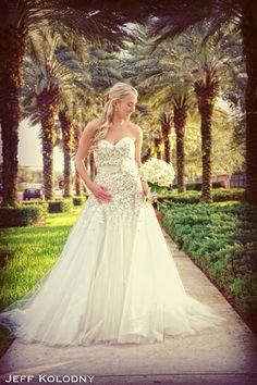 Beautiful bridal photo taken at Broken Sound Country Club,  Boca Raton FL. Wedding Photography in South Florida by Jeff Kolodny.