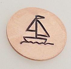 SegelbootMetalldesignStamp5mm  von theurbanbeader auf Etsy