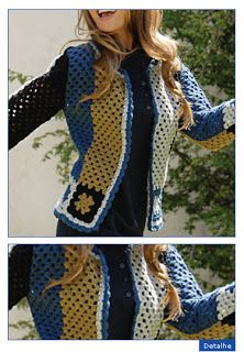 Crochet jacket with diagrams