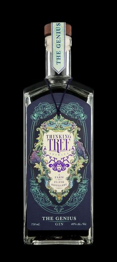 Farm to flask. Thinking Tree Spirits, Eugene OR. Most beautiful bottle I've … Farm to flask. Thinking Tree Spirits, Eugene OR. Most beautiful bottle I've ever seen.