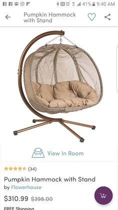 FlowerHouse Pumpkin Chair With Stand, Bark