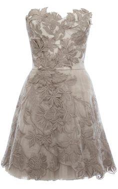 Lace strapless short dress / bridesmaid dress/ prom dress / reception dress. $188.00, via Etsy.
