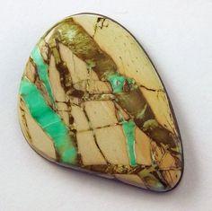 Variquoise Cabochon  Hand Cut Freeform Gemstone by WildRavenStudio