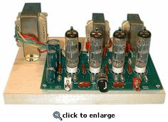 Stereo Vacuum Tube Amplifier Kit. I like tubes. Would rather have one already built and tested but I probably could build this. Don't know when I'd sit down and enjoy it's heat and glow.
