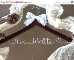 HUGE SALE SALE/Personalized Bridal Wedding Hanger. Bridal Hanger. Wedding Hanger. Bridal Party. $13.99, via Etsy.