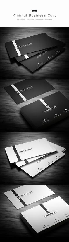 Minimal Business Card Vol.22 Different Colors:- White- BlackDetails:- Easy to modify- CMYK- 300 DPI- 3.5 x 2- Print ready- Layered PSDFonts:fontfabric.com/nexa-free-font-Tw Cen MT (Default microsoft font, can be replaced with other san…