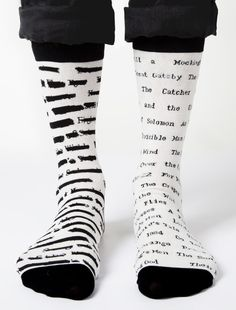 Banned Book Socks Ever wondered what books have been banned by schools? Keep the list close-at-foot with Banned Book Socks! To Kill a Mockingbird. The Great Ga Lucci, Book Socks, Crazy Socks, Knee High Socks, I Love Books, Sock Shoes, Book Lovers, Unisex, My Style