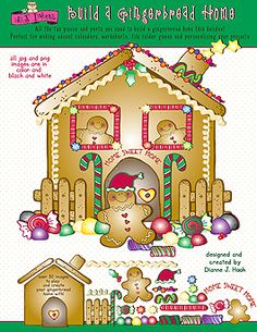 BUILD A GINGERBREAD HOME CLIPART DOWNLOAD