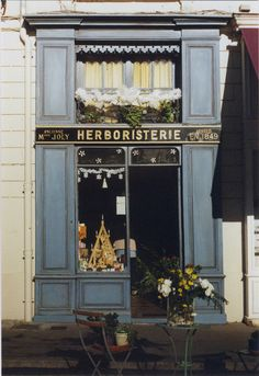 shop front, blue, window, branding
