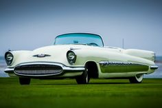 Although GM was busy building a crazy concept car that would later become a mainstay in the annals of car history.  So in order to compete, Buick launched its own jet-inspired vehicle, the XP-300.  The car also had a turbine-like rear, but the stacked oval headlights and wide fish mouth front end would translate into future faces of the Buick brand beginning in 1954.