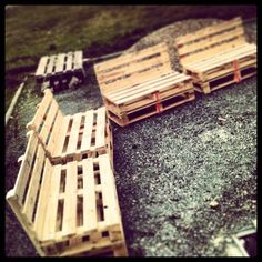 Pallet outdoor seating  Bonus post: Fascinating Vegetable Garden Ideas