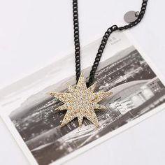 £8.90 Rhinestone Star Necklace from #YesStyle <3 Love Generation YesStyle.co.uk