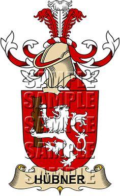Hubner Family Crest apparel, Hubner Coat of Arms gifts