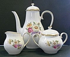 Mitterteich Bavaria Germany 3-pc. Tea Set