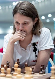 Anna Muzychuk This game is from round 7 of the 2018 European Club Cup. It is between Anna Muzychuk with White against Nana Dzagnidze w. Chess Players, Inspiring Women, Posts, Club, Female, Chess, Messages