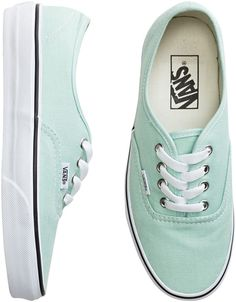 Mint Vans - love the pastel color!