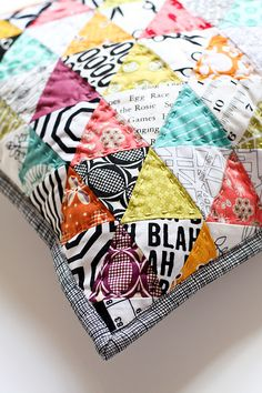Pillow Talk Flicker image. Love this idea for paper piecing; brights and black/white.