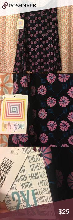 Lularoe azure skirt Brand new with tags azure skirt from lularoe. Got it on posh and it's a bit to big but beautiful pattern💗 I love the skirt!!! Silky smooth! LuLaRoe Skirts Midi