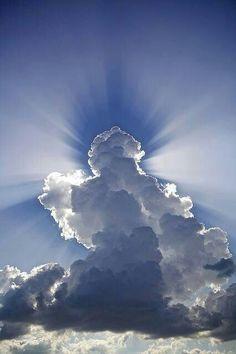 Behir the clouds