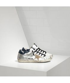 buy online 3766a fbeb5 Golden Goose Super Star Sneakers In Silver Leather Gold Star - Golden Goose  Outlet www.getggdb.com