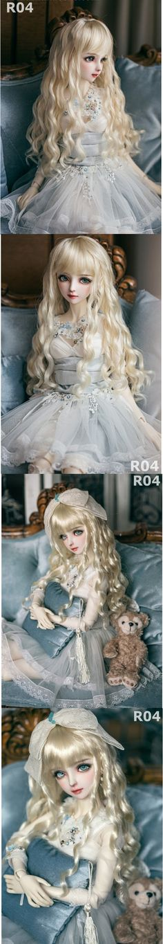 1/3 1/4 1/6 Wig Light Gold Curly Hair for SD/MSD/YSD Size Ball-jointed Doll_WIG_Ball Jointed Dolls (BJD) company-Legenddoll