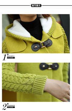 Women : Cute Cashmere Korean Coat YRB0578