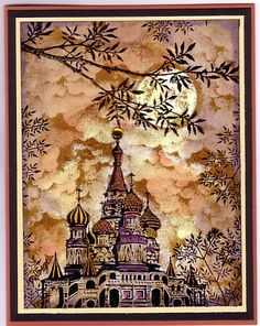 Stampscapes card by Illinois Marge..... something about the sky intrigues me!