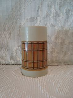 Plaid Thermos Made by Aladdin