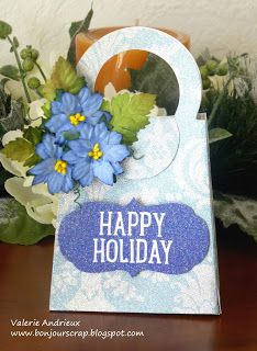 The little blue bag : a gift card holder with #Sizzix and #DCWV