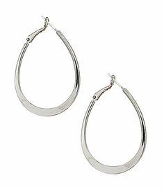 Dillards Tailored Oval Hoop Earrings #Dillards
