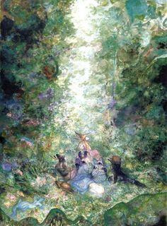 Yoshitaka Amano - In the Woods - Final Fantasy IX