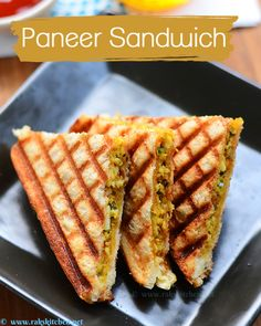 Learn how to make South Indian recipes, North Indian recipes and eggless baking recipes with step by step pictures and videos! North Indian Recipes, South Indian Food, Indian Food Recipes, Indian Snacks, Tea Time Snacks, Paneer Sandwich, Sandwich Recipes For Kids, Kid Sandwiches, Paneer Dishes