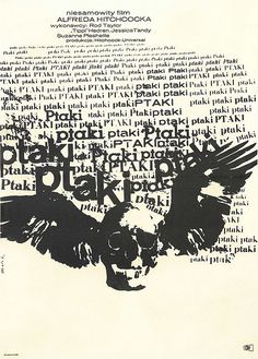 """Polish poster of """"The Birds"""""""