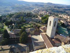 San Gimignano ( Tuscany) from Montestaffoli Fortress