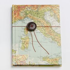 Atlas notebook by Bombus on Etsy, $40.00